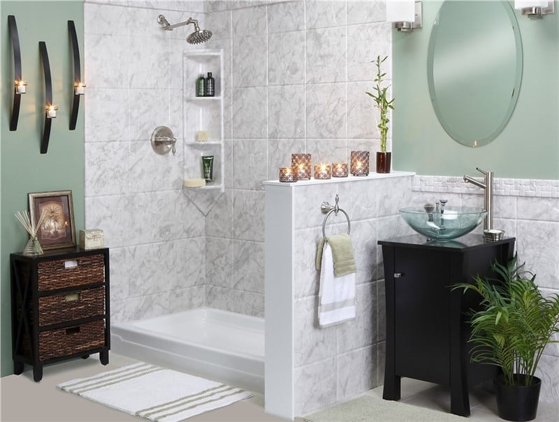 bath to shower conversion for small bathroom