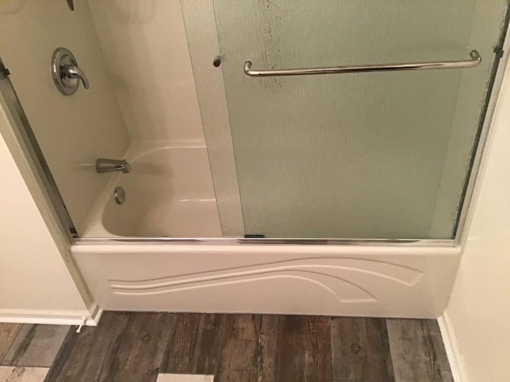 Camillus Tub Conversion with glass doors